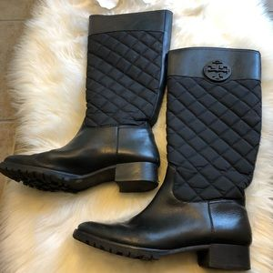 Tory Burch Tall Black Leather Riding Boots